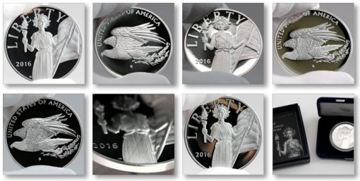 Photos of 2016 American Liberty Silver Medals