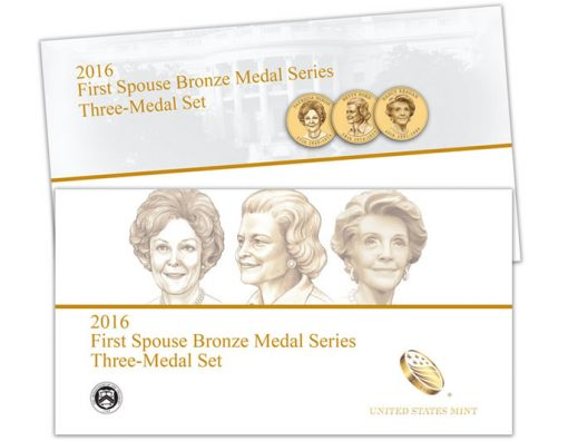 U.S. Mint image - 2016 First Spouse Bronze Medal Series Three-Medal Set