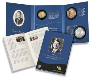 2016 Ronald Reagan Coin and Chronicles Set - Packaging, Booklet and Sleeve