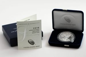 2016-W 30th Anniversary Proof American Silver Eagle and Case