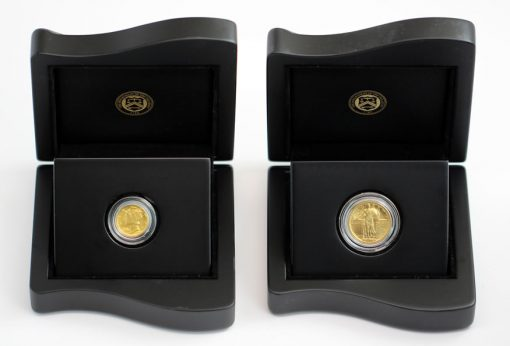 2016-W Mercury Dime and Standing Liberty Quarter Centennial Gold Coins