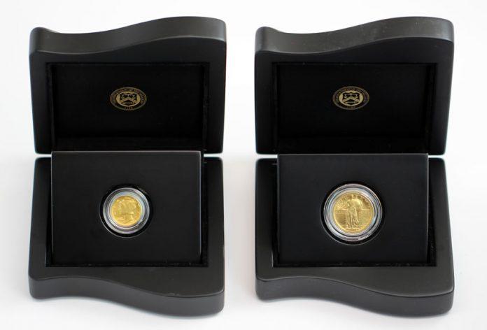 2016-W Mercury Dime and Standing Liberty Quarter Centennial Gold Coins