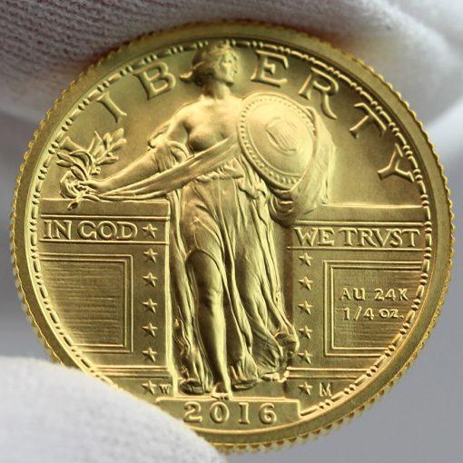 2016-W Standing Liberty Centennial Gold Coin - Obverse, a