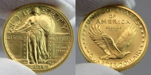 2016-W Standing Liberty Centennial Gold Coin - Obverse and Reverse