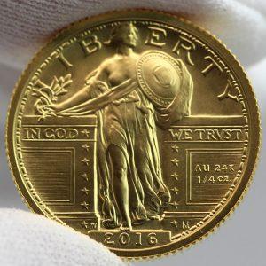 2016-W Standing Liberty Centennial Gold Coin - Obverse, b