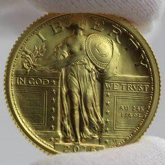 2016-W Standing Liberty Centennial Gold Coin - Obverse, c