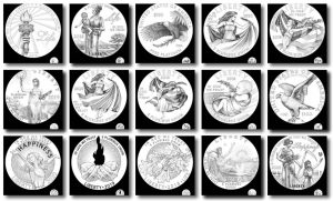 2018-2020 Proof American Platinum Eagle Candidate Designs