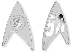 Star Trek Insignia Replicated in Delta-Shaped Silver Coin