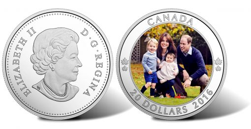 Canadian $20 2016 Royal Tour 1 oz. Silver Coin