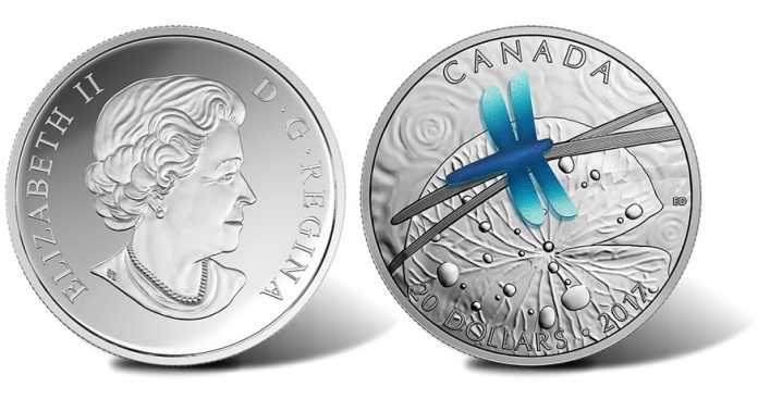 Canadian 2016 $20 Dragonfly 1 oz Silver Coin