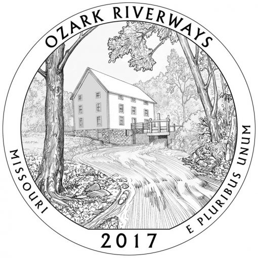 Ozark National Scenic Riverways Quarter and Coin Design