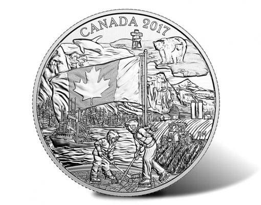 2017 $3 Spirit of Canada Silver Coin - Reverse