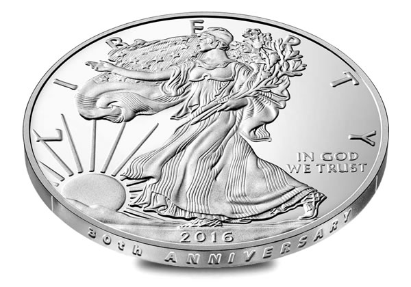 Smooth Edge Of 2016 W Proof American Silver