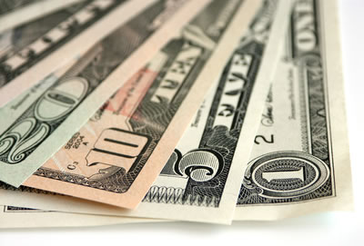 US Currency - $20, $10, $5 and $1