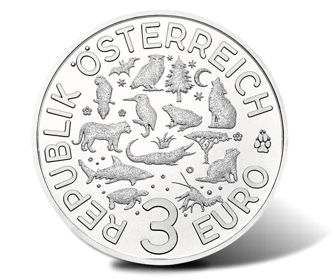 2016 €3 ColourfulCreatures Coin - Obverse