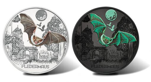 2016 €3 Colourful Creatures Fledermaus Coin - Reverses