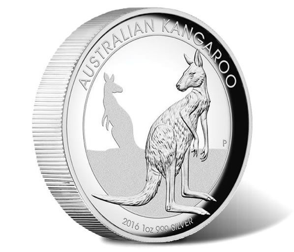 2016 Kangaroo 1oz Silver High Relief Proof Coin