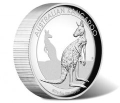 2016 Kangaroo 5oz Silver High Relief Proof Coin