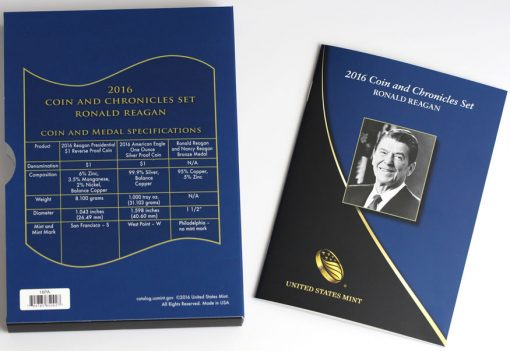 2016 Ronald Reagan Coin and Chronicles Set Specifications and Booklet