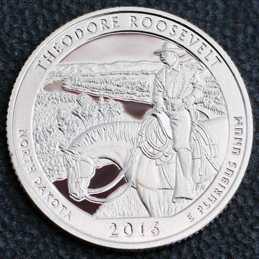 proof Theodore Roosevelt National Park quarter