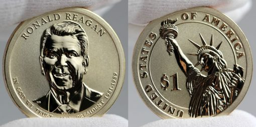 2016-S Reverse Proof Ronald Reagan Presidential $1 Coin