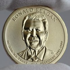 2016-S Reverse Proof Ronald Reagan Presidential $1 Coin - Obverse, a