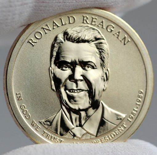 2016-S Reverse Proof Ronald Reagan Presidential $1 Coin - Obverse, b