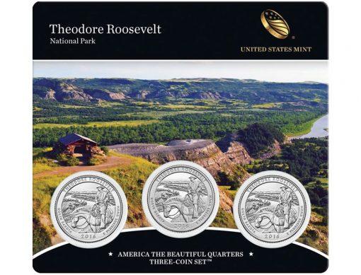 2016 Theodore Roosevelt National Park Quarter Three-Coin Set
