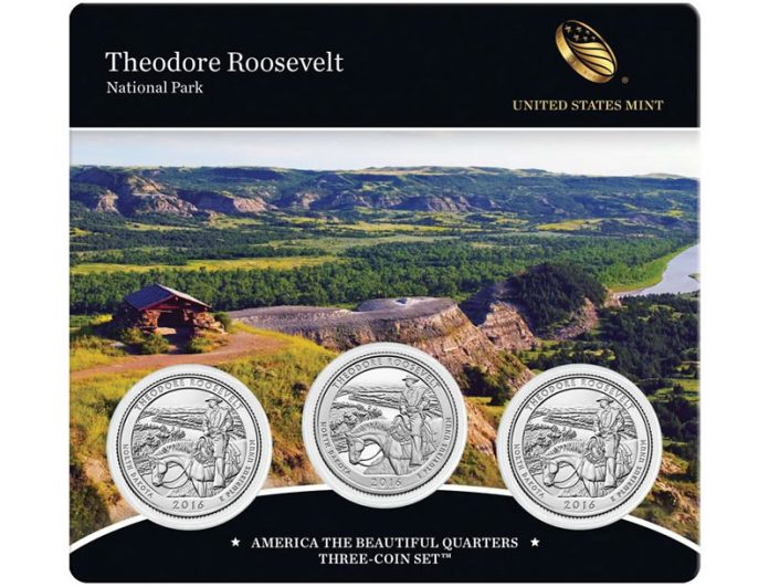 2016 Theodore Roosevelt National Park Quarter Three-Coin Set