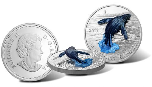 2017 $20 Three-Dimensional Breaching Whale 1 oz. Silver Coin