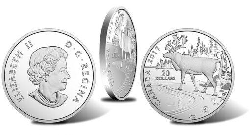2017 $20 Woodland Caribou 1 oz. Silver Coin