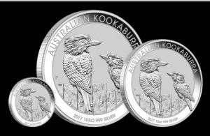 2017 Australian Kookaburra 1oz, 1 kilo, 10oz Silver Bullion Coins