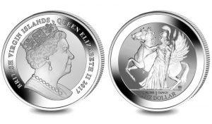 2017 Reverse Proof Pegasus 1 oz Silver Bullion Coin