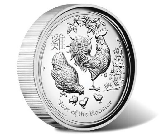 2017 Year of the Rooster 1oz Silver High Relief Proof Coin