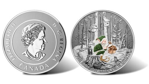 Canadian 2016 $25 Woodland Elf Silver Coin