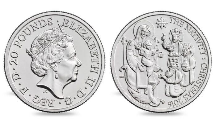 Christmas Nativity Story 2016 UK £20 Fine Silver Coin