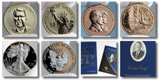 Photos of 2016 Ronald Reagan Coin and Chronicles Set