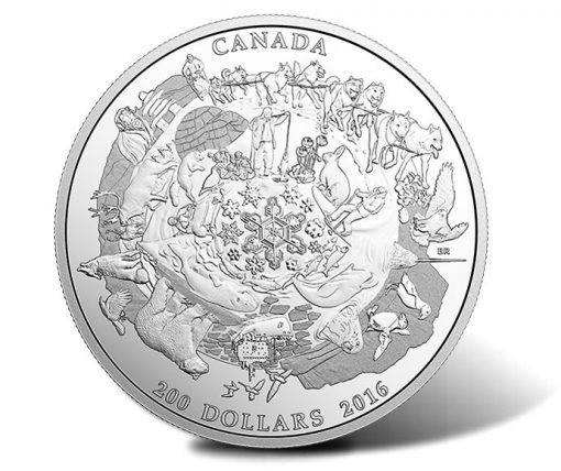 2016 $200 Canada's Icy Arctic 2 oz. Silver Coin - Reverse