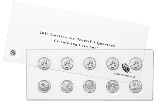 2016 America the Beautiful Quarters Circulating Coin Set
