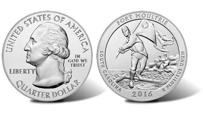 2016 Fort Moultrie Five Ounce Silver Bullion Coin
