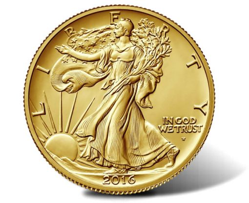 2016-W Walking Liberty Centennial Gold Coin - Obverse