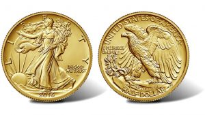 2016-W Walking Liberty Centennial Gold Coin - Obverse and Reverse