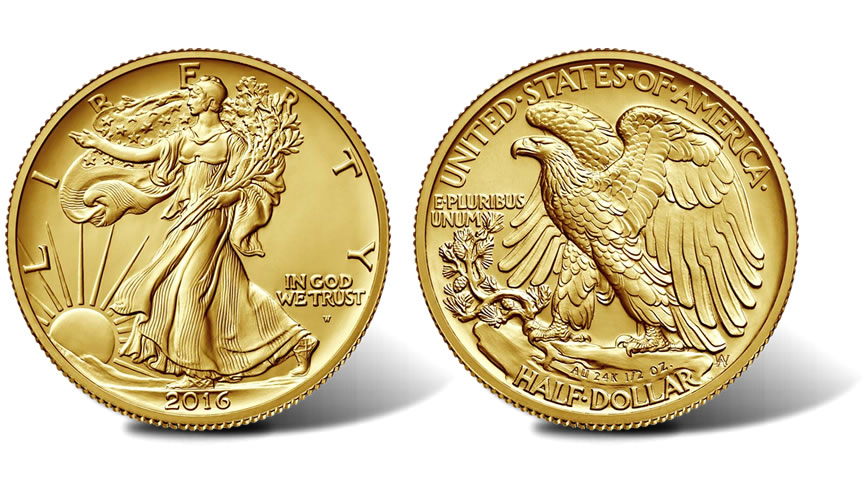 2016 W Walking Liberty Centennial Gold Coin Obverse And Reverse