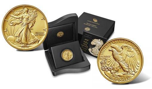 2016-W Walking Liberty Centennial Gold Coin, Presentation Case
