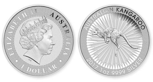 2017 Australian Kangaroo 1oz Silver Bullion Coin