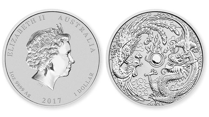 2017 Dragon and Phoenix 1oz Silver Bullion Coin