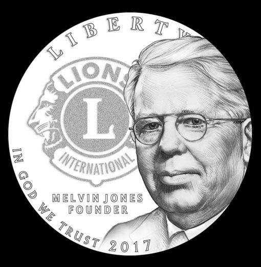 2017 Lions Clubs International Century of Service Silver Dollar, Obverse Design