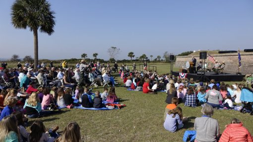 Fort Moultrie Quarter Ceremony Attendies