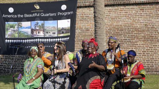 Plantation Singers at quarter ceremony