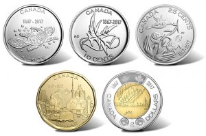 Canadian 150th Anniversary Coins in Circulation